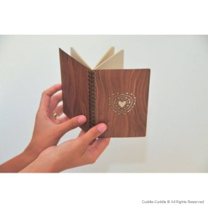 Notebook wooden Heart