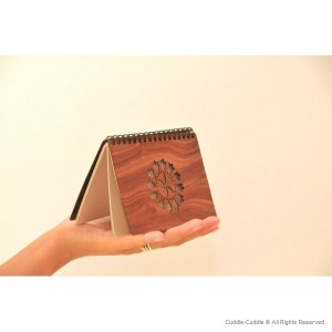 Notebook wooden Sun 2