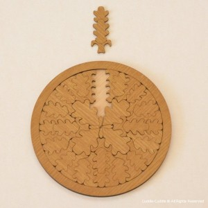 Puzzle–Tea Tray-Oak Tree