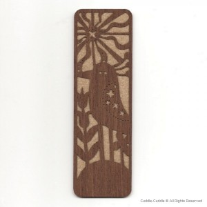 Wood bookmark-Bird