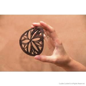 Wooden mug coasters Sun (10 cm) 1