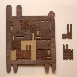 Wooden puzzle-Rabbit