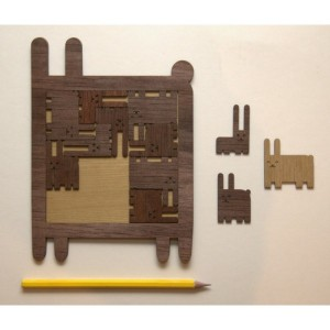 Wooden puzzle-Rabbit 2