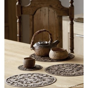 Wooden teapot coasters 1