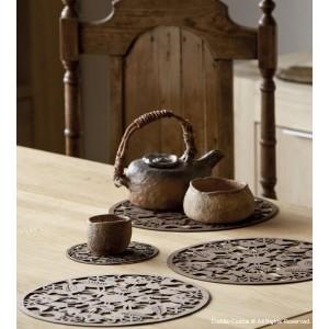 Wooden teapot coasters 1