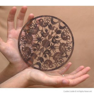 Wooden teapot coasters 15 cm. 1
