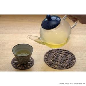 Wooden teapot coasters 15 cm. 2