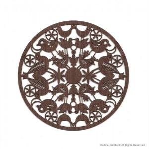 Wooden teapot coasters 2