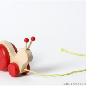 Wooden Pull Toy-Snail