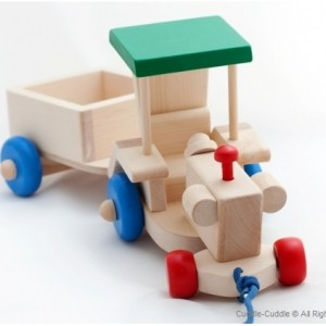 Wooden Pull Toy-Tractor