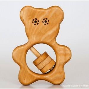 Wooden Rattle-Tedy bear