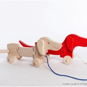 Wooden Toy-Pull Dog