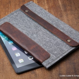 Deluxe iPad case-light grey1