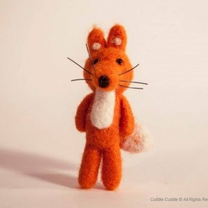 Fox brooch-Orange
