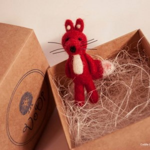 Fox brooch-Red3