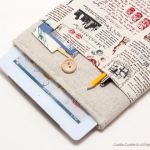 Linen iPad case-Antique style1