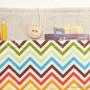 Linen iPad case-Color chevron2