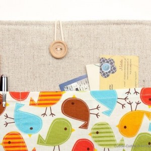 MacBook linen case-Birds