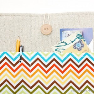 MacBook linen case-Colorful lines