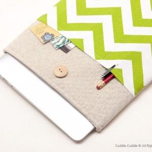 MacBook linen case-Green1