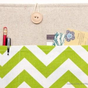 MacBook linen case-Green2