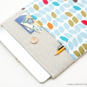 MacBook linen case-Leaves