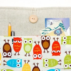MacBook linen case-Motley Owls
