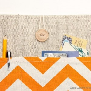 MacBook linen case-Orange ornament