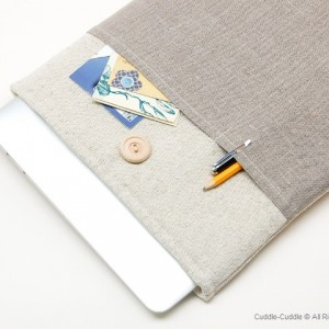 MacBook linen case-Plain1