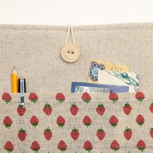 MacBook linen case-Sweet strawberry2