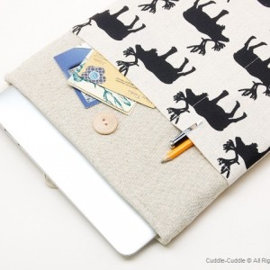MacBook linen case-deer