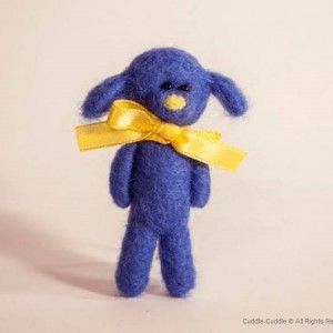 Puppy felt brooch-Blue4