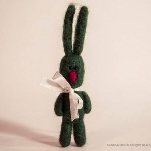 Rabbit brooch-Green3
