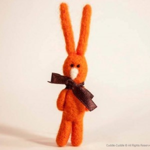 Rabbit brooch-Orange2