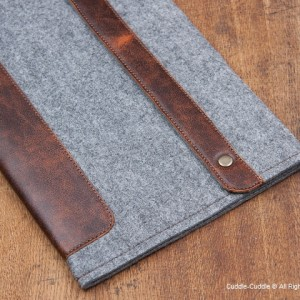 Deluxe MacBook case- Light grey
