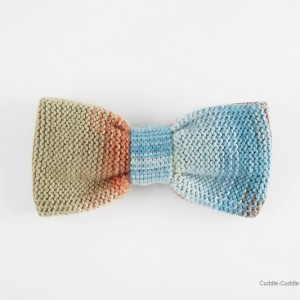 High Quality Bow Tie-Blue&Light Orange