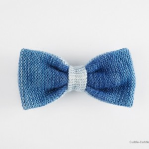 High Quality Bow Tie-Blue&White