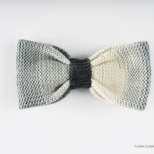 High Quality Bow Tie-White&Grey