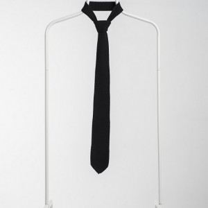 Luxury Knitted Tie-Black