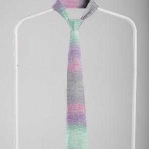Luxury Knitted Tie-Grey&Green