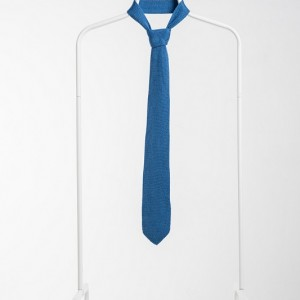 Luxury Knitted Tie-Light Blue