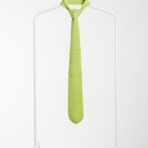 Luxury Knitted Tie-Salad Green