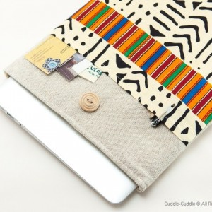 MacBook linen case-Cozy ornament