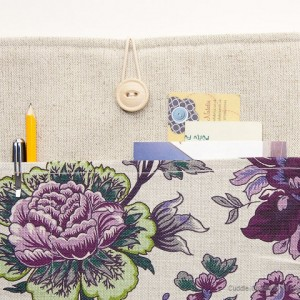 MacBook linen case-Flowers